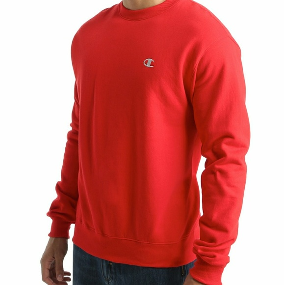 Red Champion Pullover Sweatshirt
